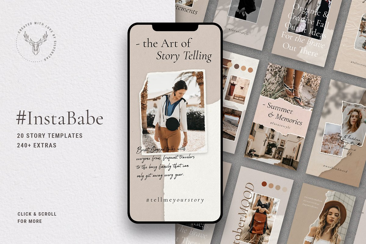 #InstaBabe Instagram Story Templates