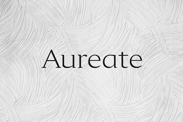 Aureate - A Sophisticated Serif