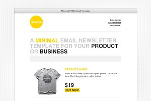 Cardeo Minimal HTML Email Template