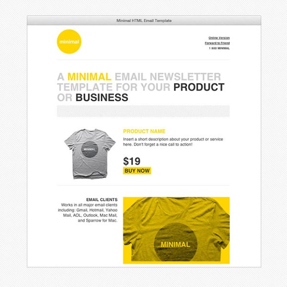 Cardeo Minimal HTML Email Template Website Templates Creative Market - Minimal email template