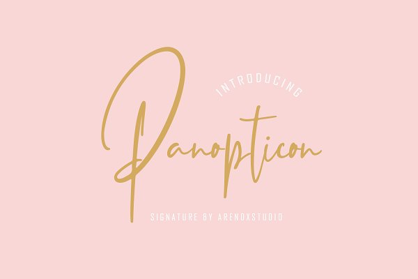 Best Panopticon Signature Font Vector