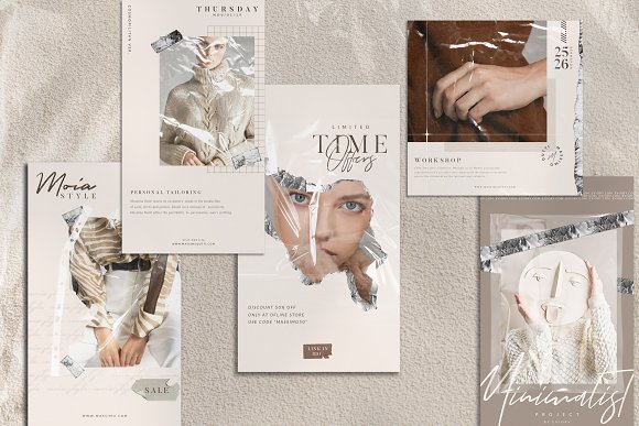 PS & CANVA Rein - Social Media Pack in Instagram Templates - product preview 3