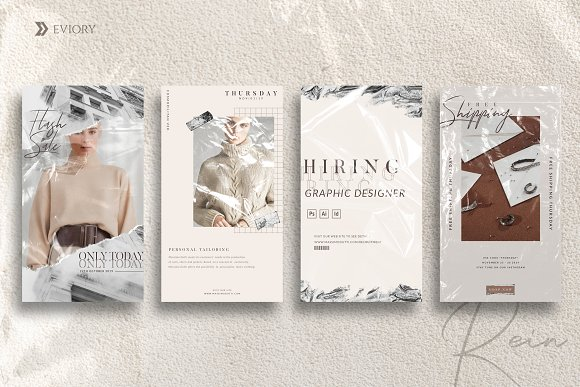 PS & CANVA Rein - Social Media Pack in Instagram Templates - product preview 5