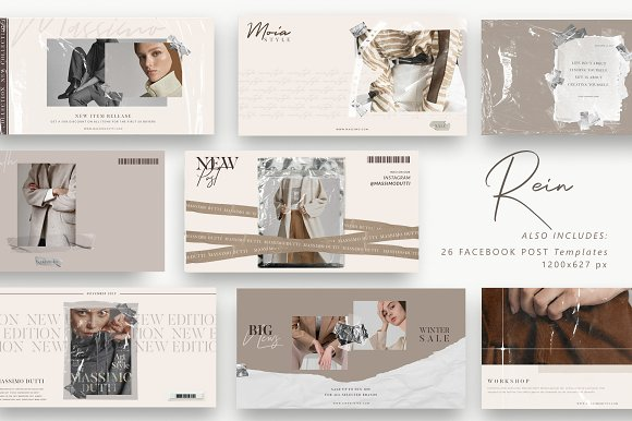 PS & CANVA Rein - Social Media Pack in Instagram Templates - product preview 9