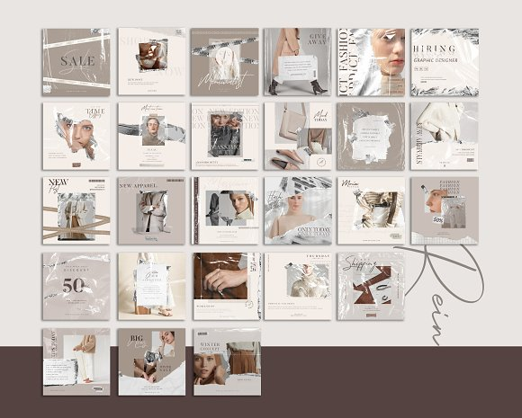 PS & CANVA Rein - Social Media Pack in Instagram Templates - product preview 10