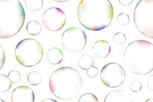 A lot of soap bubbles pattern