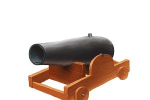 Cartoon medieval cannon