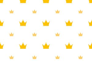 Big and small gold crown icons