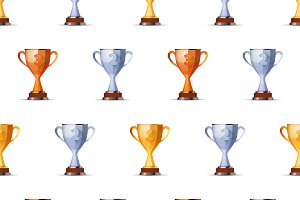 Cups of winners award pattern