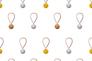 Medals on white, pattern