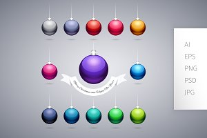 Colorful Shiny Christmas Balls