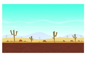 Desert cartoon game background