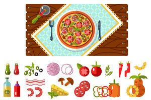 Table with Pizza