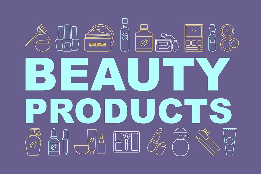 Makeup Cosmetics Concepts Banner Pre Designed Photoshop Graphics Creative Market