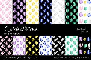 Crystals Digital Papers