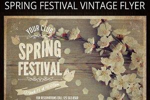 Spring Festival Vintage Flyer