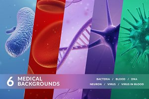 Set of medical backgrounds