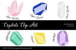 Crystals Clip Art
