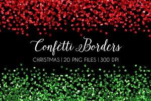 Christmas Glitter Confetti Border