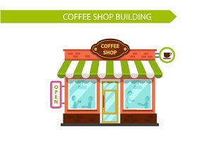 Vector Coffee Shop Building