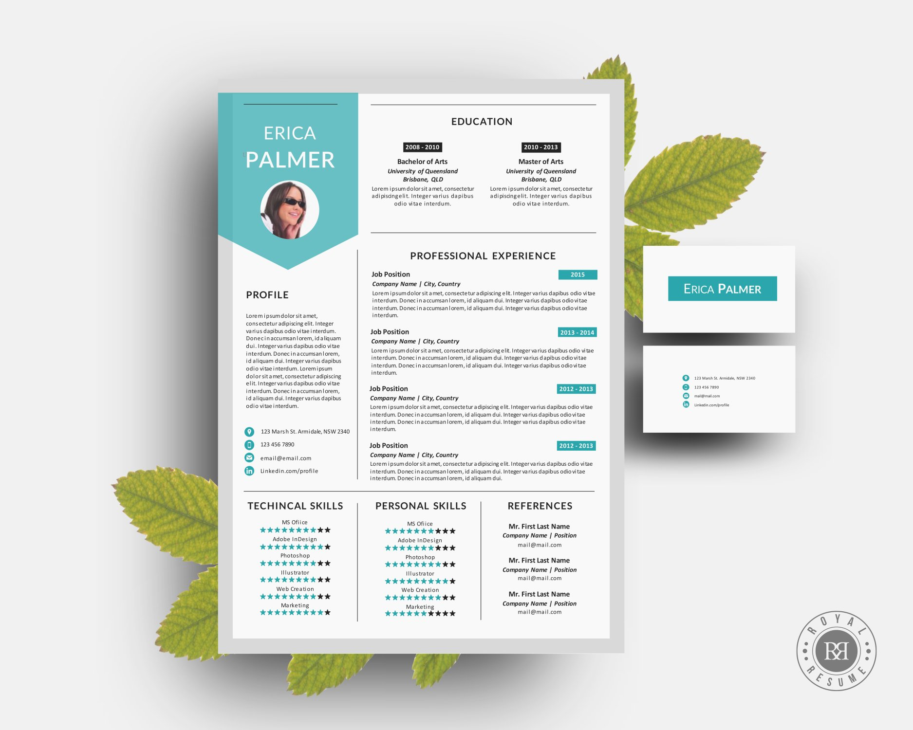 Creative resume pack template word resume templates creative market maxwellsz