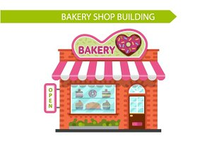 Vector Bakery Shop Building