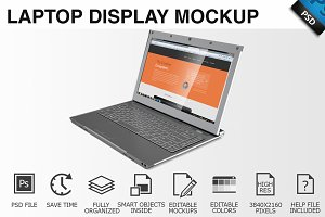 Laptop Display Mockup 01