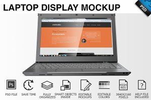 Laptop Display Mockup 02