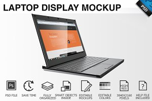 Laptop Display Mockup 03
