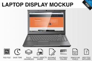 Laptop Display Mockup 04