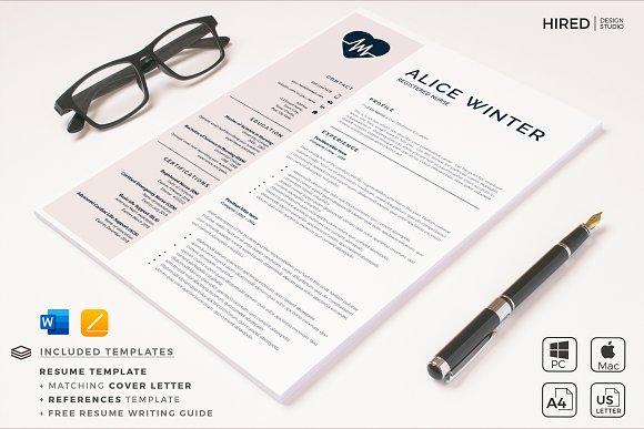 Nurse Resume, Cover L. + References