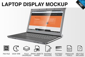 Laptop Display Mockup 05