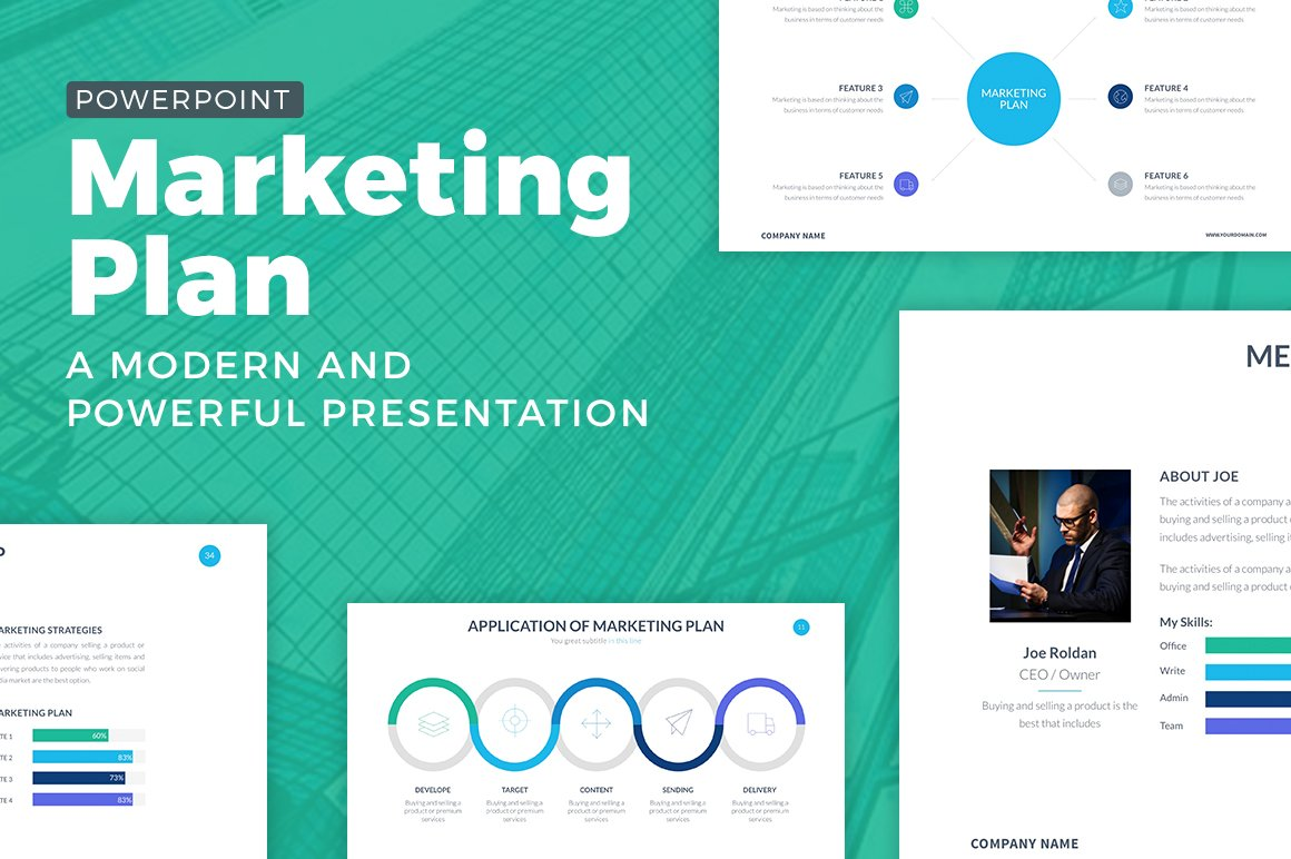marketing plan powerpoint template presentation templates creative market