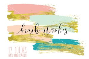 paint brush strokes clipart