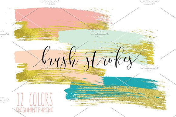 paint brush strokes clipart ~ Graphics on Creative Market