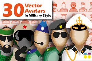 30 Military Avatars.