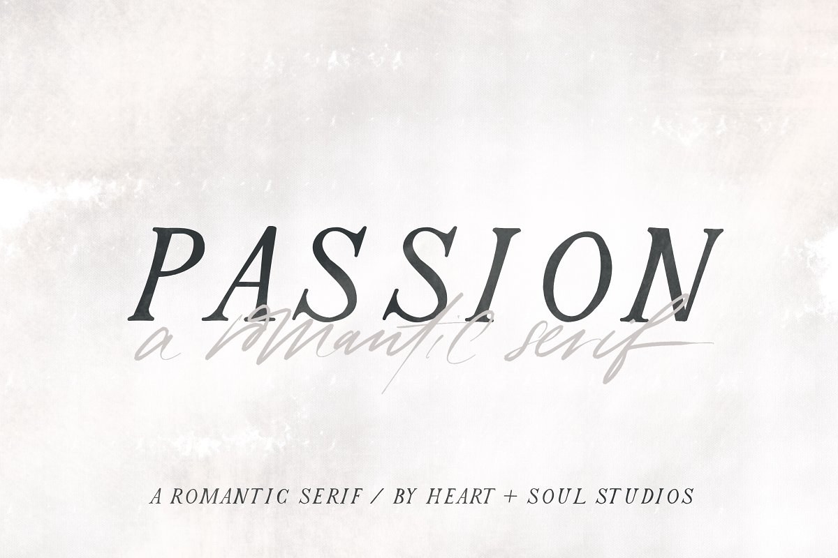 Passion | Romantic Serif in Serif Fonts - product preview 9