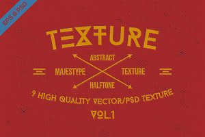 9 Abstract Halftone Texture VOL.1
