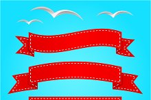 Vector banner set. Ribbons.