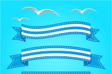 Vector banner set. Ribbons.