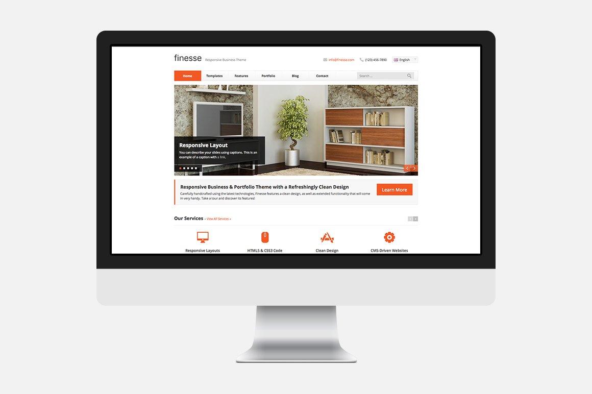 Finesse Html Template Website Templates Creative Market