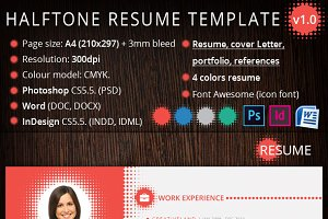 Halftone Resume Template