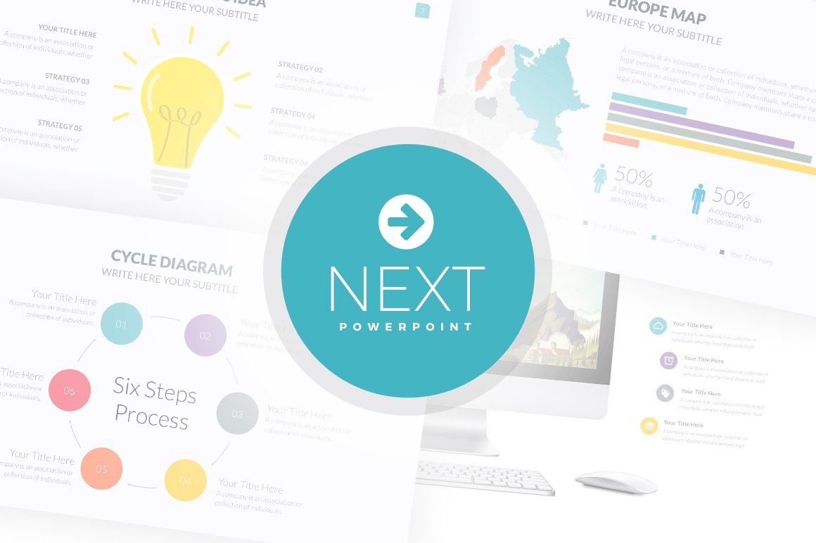 next powerpoint template presentation templates creative market