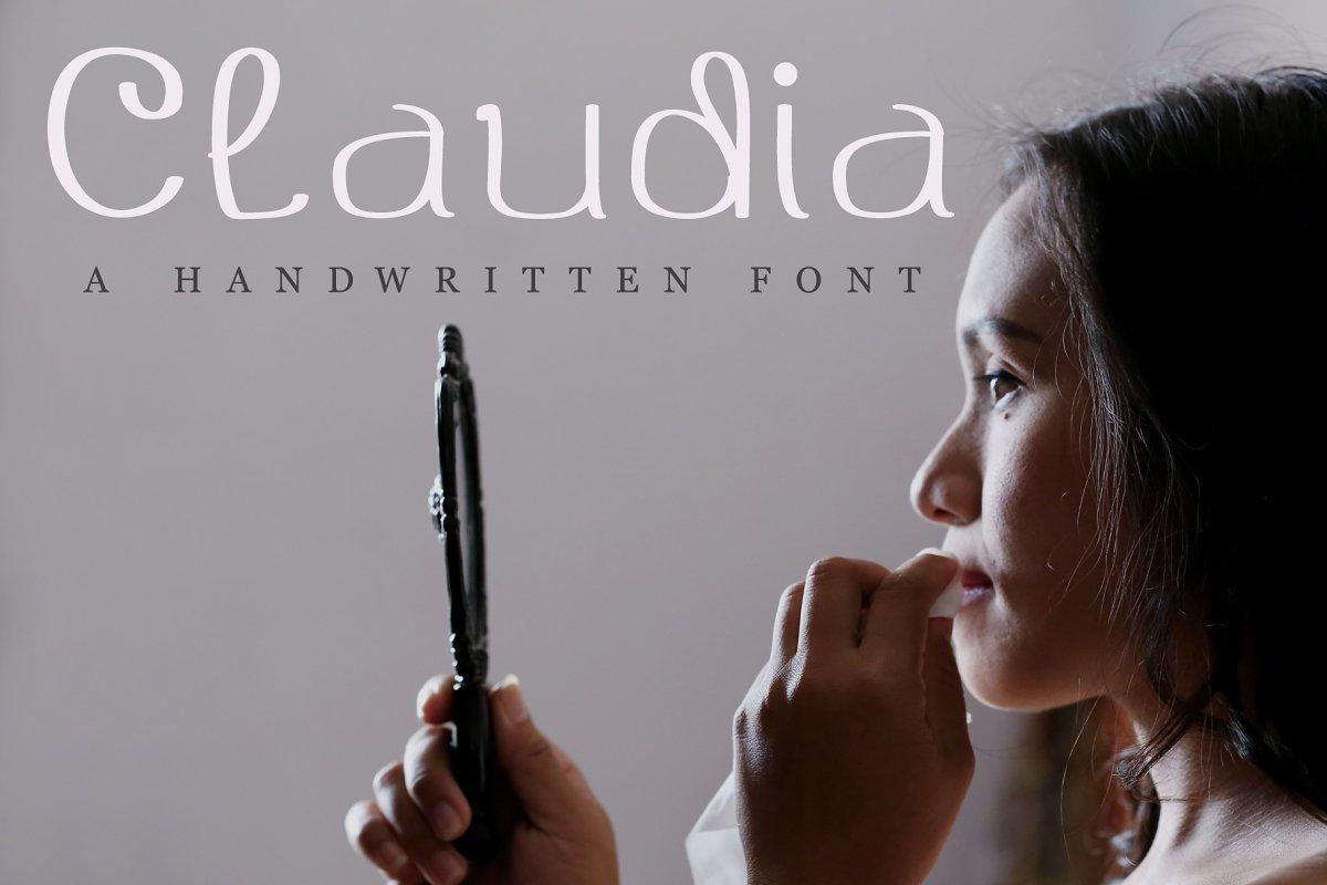 Claudia Beauty Handwritten Font