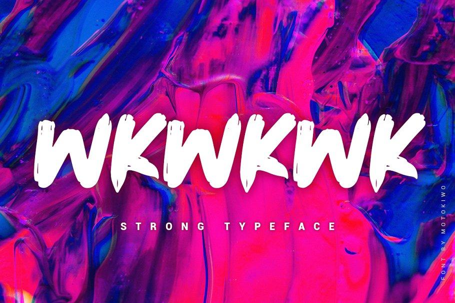 Wkwkwk - Strong Bold Typeface