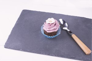 Cupcake and spoon