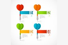 Colorful Dart Arrow Like Banner