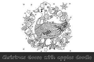 Christmas goose doodle.