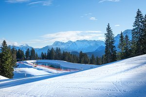 The slopes for mountain skiing
