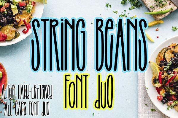 Best String Beans - An all caps font duo Vector